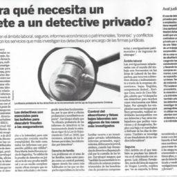 Bufete necesita detective privado