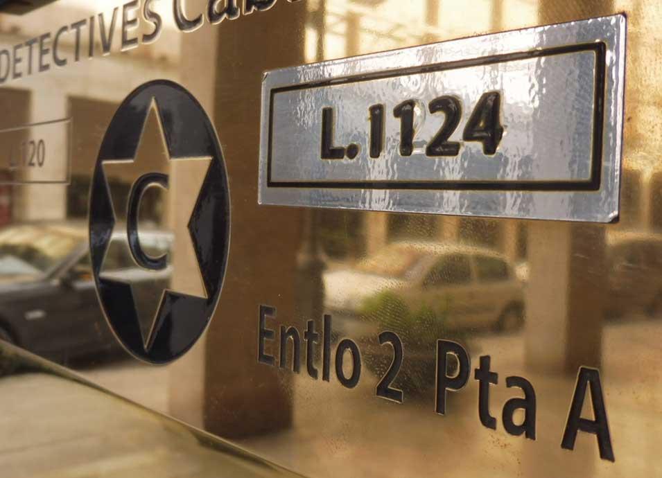 Placa Detectives Cabanach